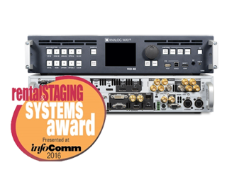 Видеопроцессор VIO 4K от Analog Way получил награду на InfoComm 2016 Rental & Staging Awards